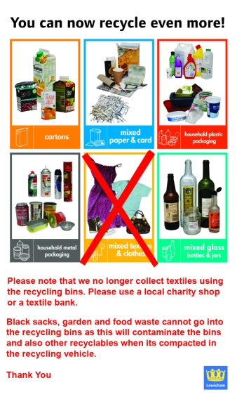 Recycling information for the blog
