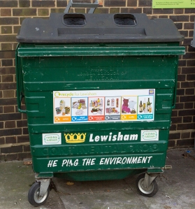 New stickers are now appearing on all large bins across the entire borough.