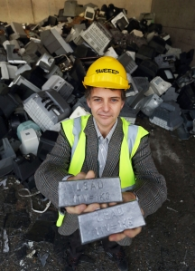 Justin Greenaway, Contracts Manager at SWEEEP. 1 CRT produces 1 kg of lead.