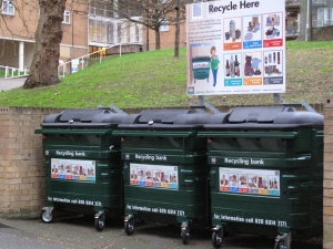 This is a second site on the Sydenham Hill estate that benefitted from having new bins and signs.