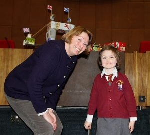 Cllr Susan Wise with first prize winner Lottie.