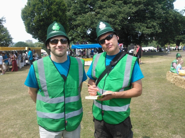 PC Brinson and PC Swift out on patrol at People's Day