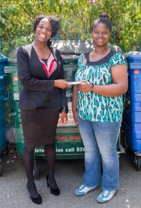 Cllr Onikosi with Brockley resident Fontella Alvaranga