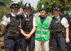 Joining forces with Lewisham police to fight the war on waste