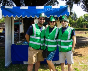 Dave Bowman from Bywaters (right) with Kate and Dave from our recycling team