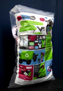 Full bags should be left in your recycling bin (preferably at the bottom)