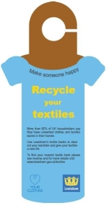 You might have seen these hanging on a recycling bin near you.
