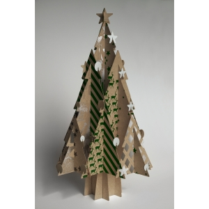Why not try something really different this year and go for a cardboard Christmas tree