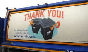 By asking for the lids to be down on collection day, we are hoping that residents will reduce the amount of waste they produce