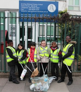 Children at Grinling Gibbons keeping the streets of Deptford