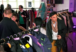 Both students of Goldsmiths University and Lewisham residents came to swap their clothes. At times the change room had a queue as there was a frenzy of trying things on!