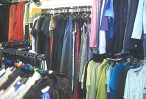 Please take clothing to a textile banks or a charity shop