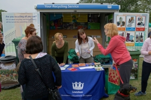 Nearly 250 people visited our recycling trailer