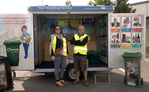 Kate and Paddy from the Council's Recycling Team spoke to over 100 people throughout the day.