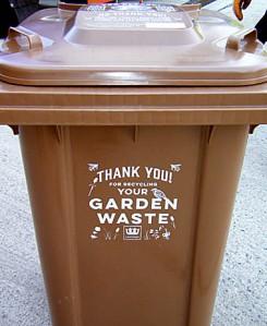 The design on the new garden waste bins